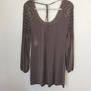 Free People Off Shoulder Tunic Dress Long sleeve S